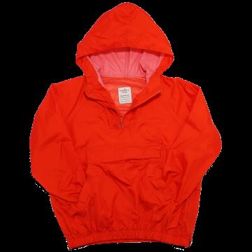 Jachetă portocalie, ușoară cu glugă