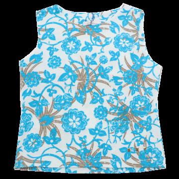 Maiou cu imprimeu floral albastru și maro Papermoon 8 ani (128cm)