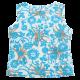 Maiou din vâscoză cu imprimeu floral albastru și maro