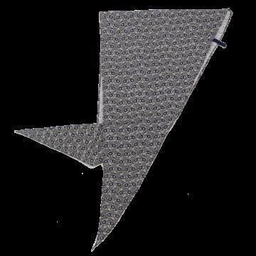 Eșarfă gri triunghiulară cu imprimeu