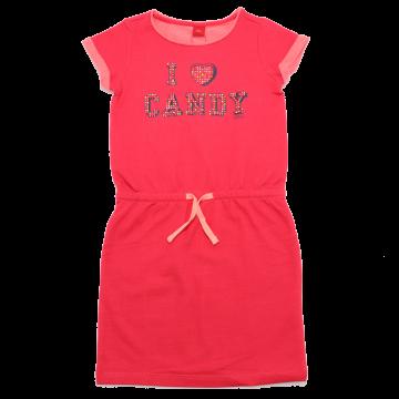 Rochiță sport roz cu imprimeu și ștrasuri