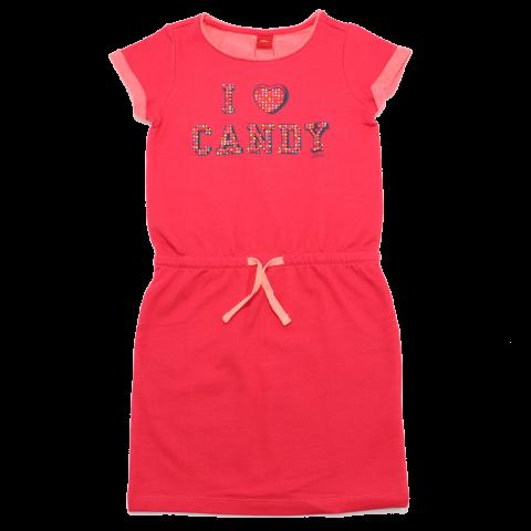 Rochiță sport roz cu imprimeu și ștrasuri 7-8 ani (128cm)