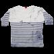 Bluză albă cu dungi albastre