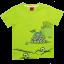 Tricou verde aprins cu imprimeu mingi de fotbal