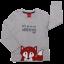 Bluză gri cu mânecă lungă și imprimeu vulpe
