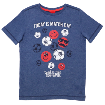 Tricou albastru cu imprimeu Today is Match Day