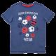 Tricou albastru cu imprimeu Today is Match Day