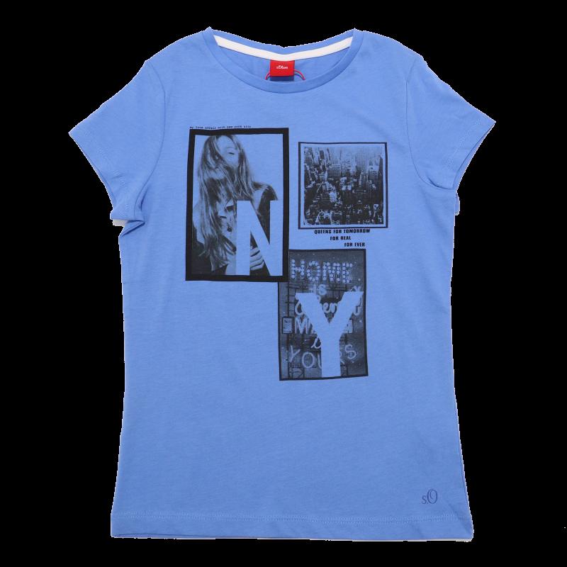 Tricou subțire albastru New York