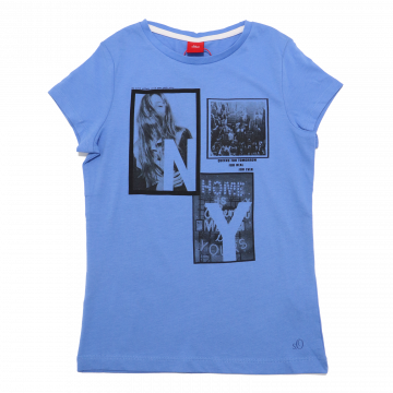 Tricou subțire albastru New York s.Oliver 7-8 ani (128cm)