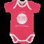 Set 3 body-uri roz și alb cu mânecă scurtă  T502 ROSA