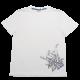 Tricou alb cu imprimeu Hang Loose