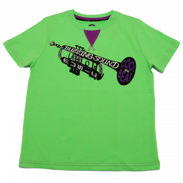 Tricou verde și mov cu imprimeu trompetă Tom Tailor 8-9 ani (134cm)