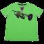 Tricou verde și mov cu imprimeu trompetă