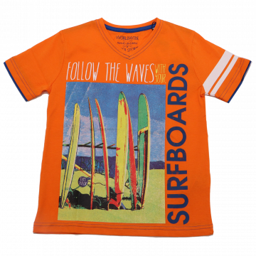 Tricou portocaliu cu anchior și imprimeu Tom Tailor 6-7 ani (122cm)