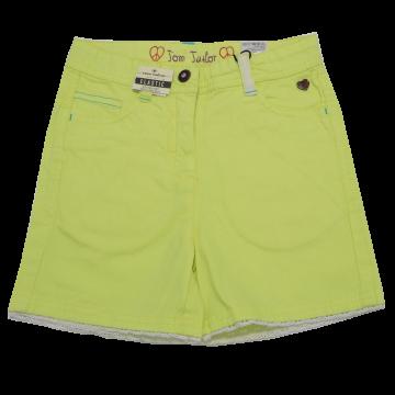 Pantaloni scurți galbeni cu dantelă la tiv Tom Tailor 7-8 ani (128cm)