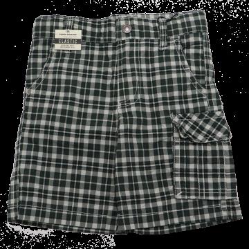 Pantaloni scurți în carouri albe și verzi