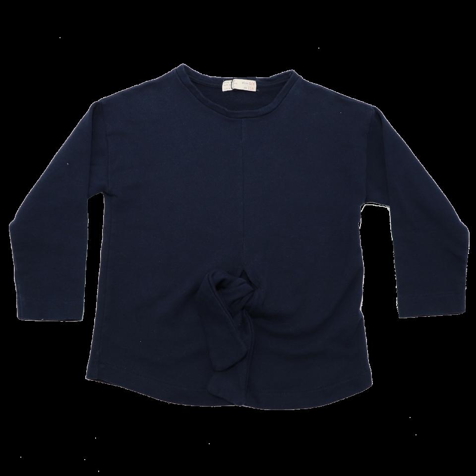 Bluză bleumarin cu nod în față