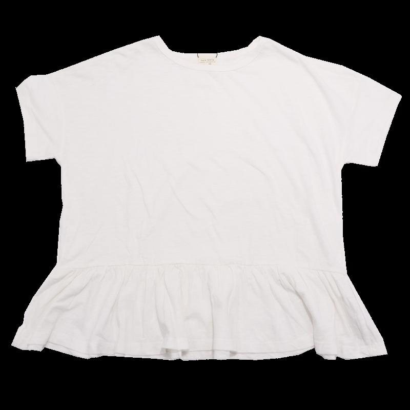 Tricou alb larg, cu elastic
