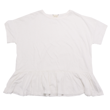Tricou alb larg, cu elastic Zara 11-12 ani (152cm)