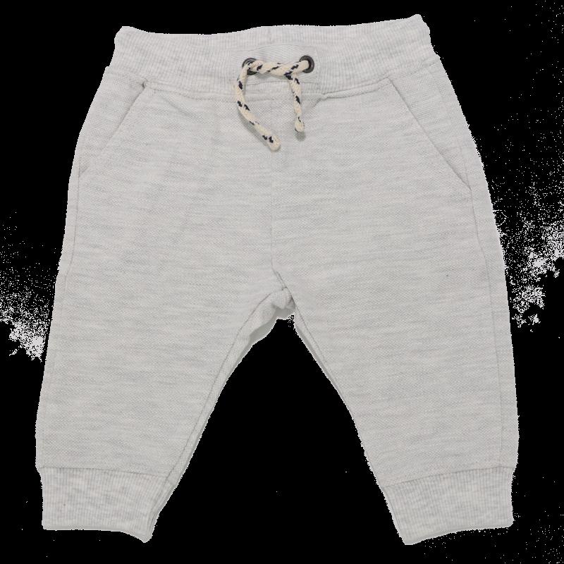 Pantaloni gri deschis cu șiret