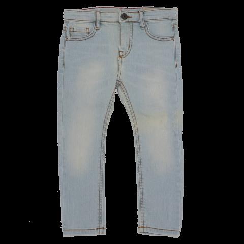 Jeans prespălați bleu  Zara 4 ani (104 cm)