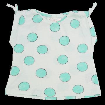 Tricou alb cu cercuri verzi Zara 6-9 luni (74cm)