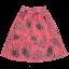 Fustă midi roz cu imprimeu floral