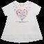 Tricou alb cu imprimeu inimă din flori