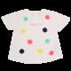 Tricou alb cu aplicații colorate