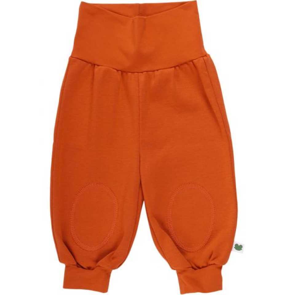 Pantaloni din bumbac cu aspect denim și genunchi întăriți
