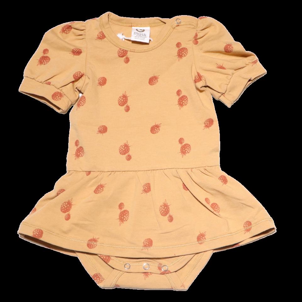 Body bebe cu mânecă scurtă și fustiță