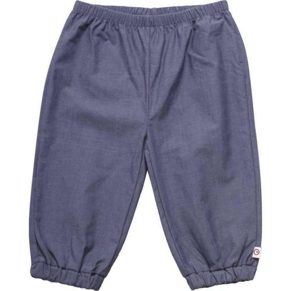 Pantaloni chambray din bumbac răcoros