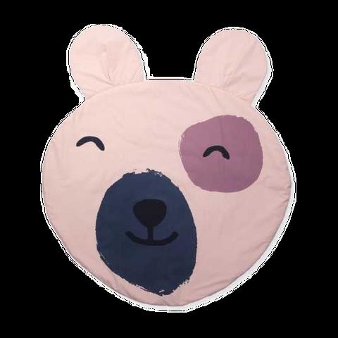 Salteluță rotundă cu urechi de ursuleț pentru bebeluși