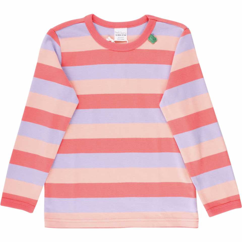 Bluză cu mânecă lungă și dungi late în diferite culori