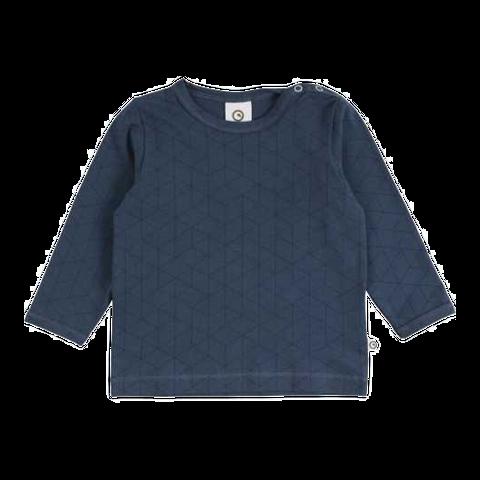 Bluză bleumarin cu imprimeu geometric pentru copii