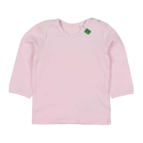 Bluză Alfa roz pudrat cu mânecă lungă