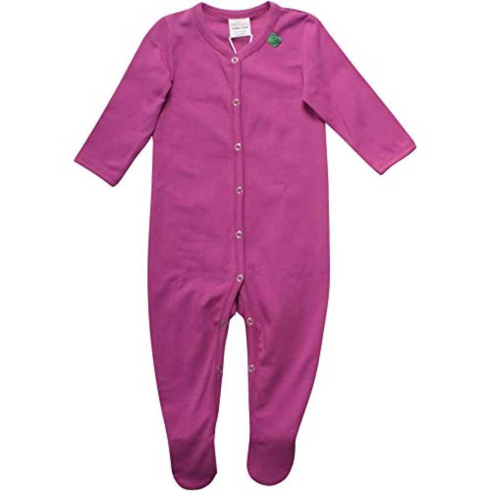 Salopetă violet cu mânecă lungă și botoșei pentru bebeluși