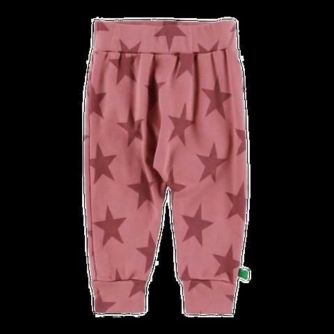 Pantaloni roz cu imprimeu steluțe