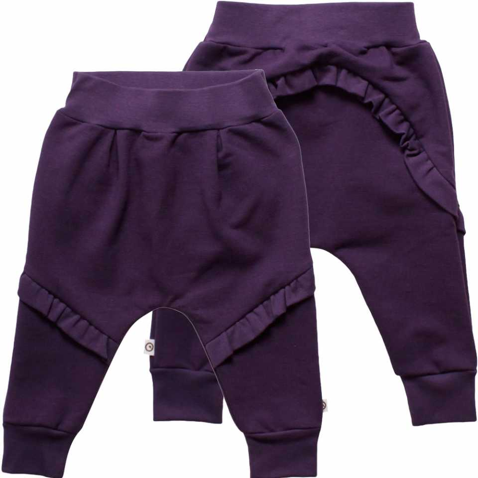 Pantaloni levănțică cu volane pentru fetițe