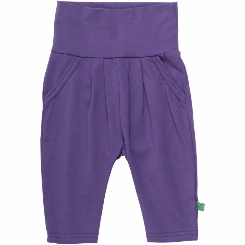 Pantaloni Alfa mov cu pliuri și buzunare