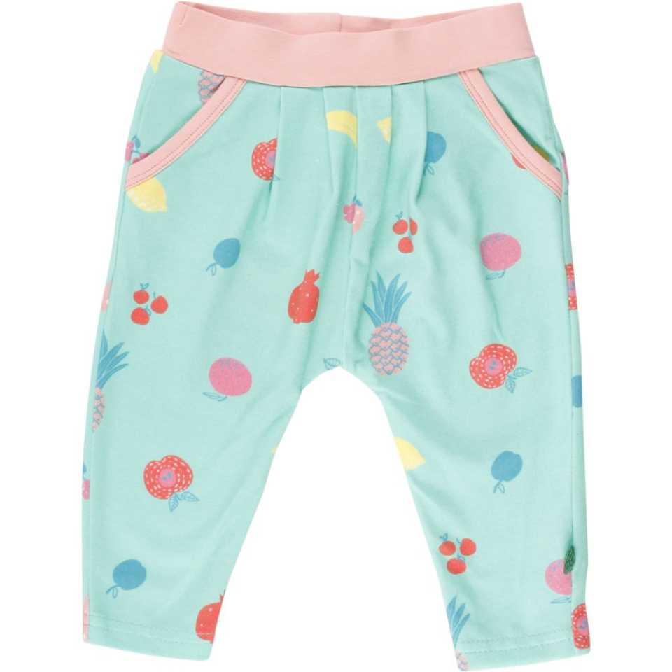 Pantaloni pentru fete cu imprimeu cu fructe și buzunare