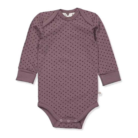 Body violet din bumbac pentru bebeluși
