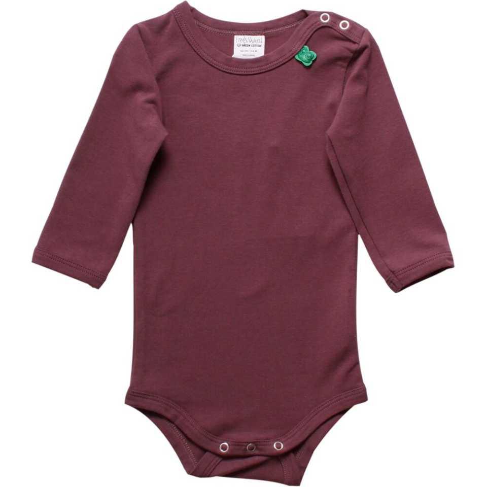 Body Alfa mov prună din bumbac organic pentru bebeluși