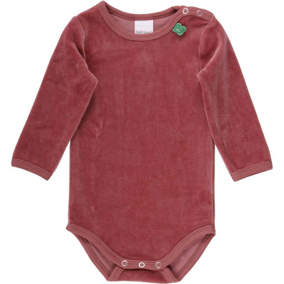 Body roz din catifea cu mânecă lungă