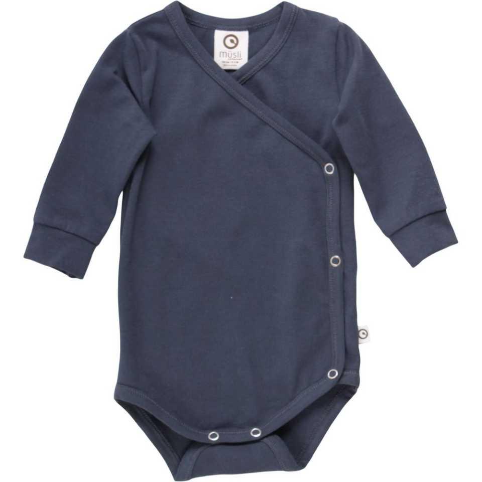 Body petrecut bleumarin pentru bebeluși