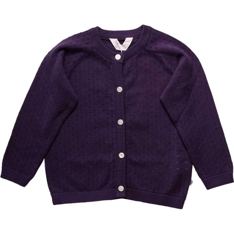 Cardigan mov tricotat