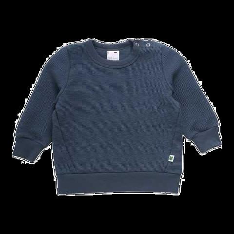 Bluză bleumarin din bumbac cu mânecă lungă