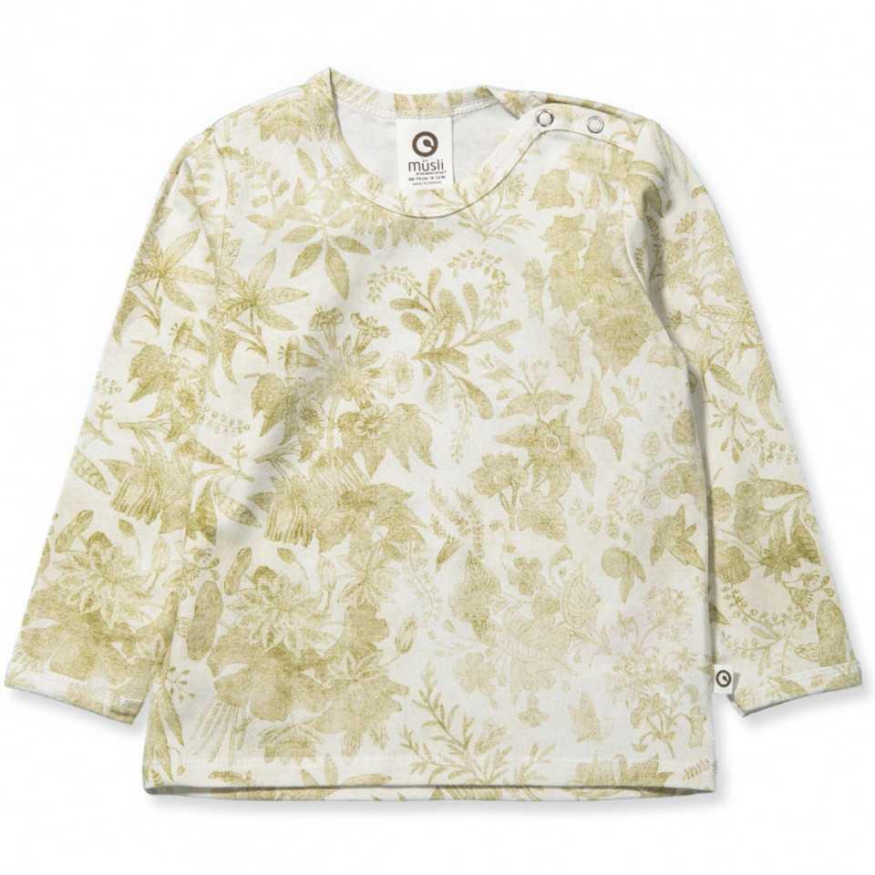 Bluză cu mânecă lungă și imprimeu vegetal