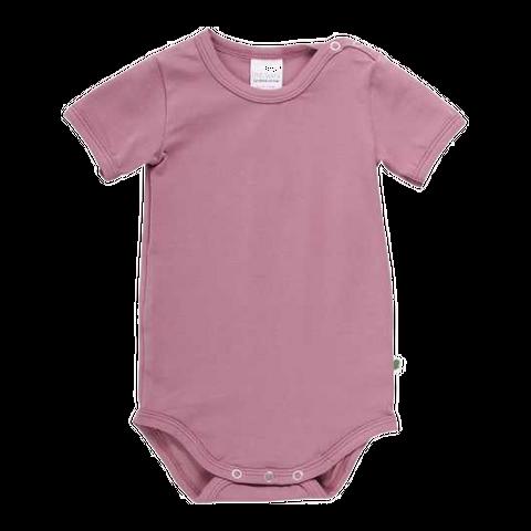Body Alfa roz din bumbac organic pentru fete