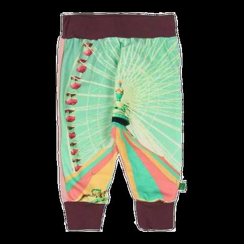 Pantaloni confortabili cu imprimeu circ